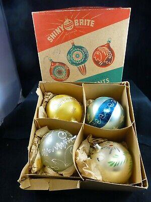 Jumbo Christmas Ornaments (Vintage Jumbo Western Germany Shiny Brite Christmas ornaments Orig.)