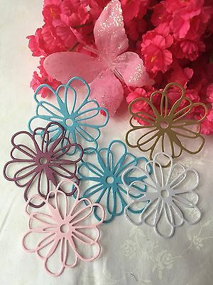 12 Pearlescent Finish Paper Flowers CUT -