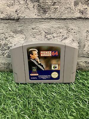 Nintendo 64 - Premier Manager 64 - Football Game - N64 Cart