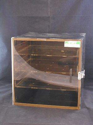 Lab Tinted Acrylic Desiccator Cabinet Dry Box 3 Removable Shelves 12 X 12 X 12