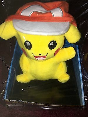 Pokemon   Pikachu  with ash  cap  soft plush toy