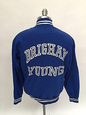 BYU Brigham Young University Track Sand Knit Medalist Jacket 1980s Player Worn
