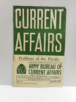 Vintage - CURRENT AFFAIRS Booklet - May 8th, 1943 - Printed in Canada