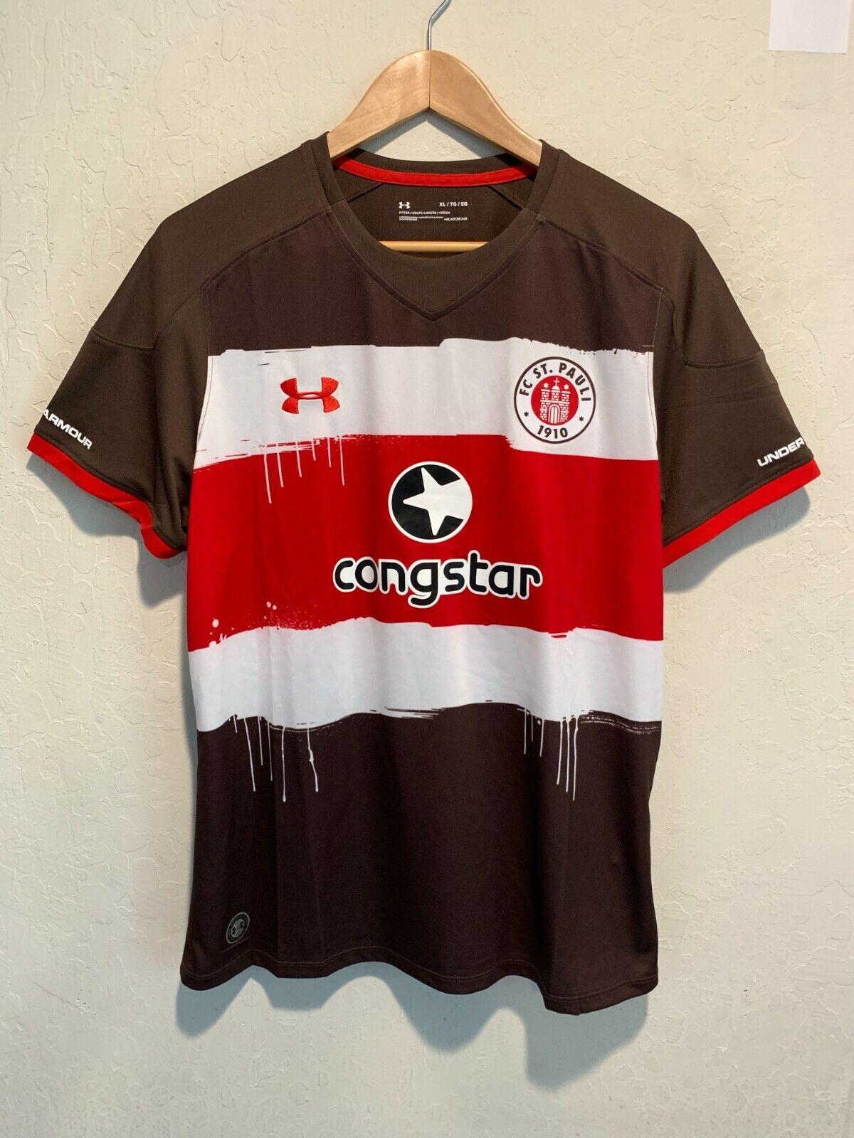 Under Armour FC St. Pauli Soccer Jersey Size XL Women's Brow