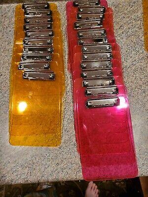 Lot Of 23 Mini Notepad Clipboard Neon Pink Orange 6x9 B4