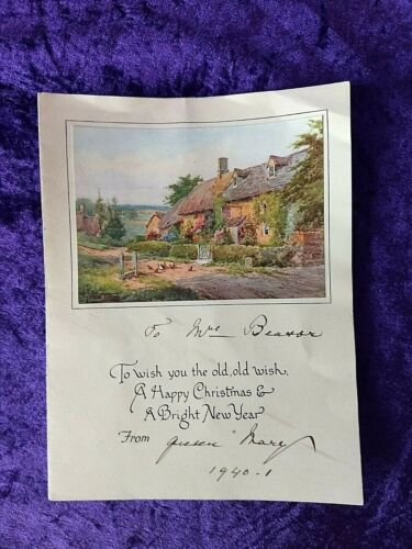 1940 Queen Mary signed Christmas card