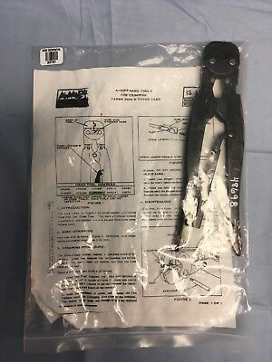 Tyco Electronicsamp 48698 Hand Crimping Tool W Instruction Sheet