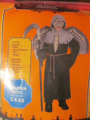 Messenger Of Death Halloween Costume Boys s 4 - 6x or M 7/8 NWT