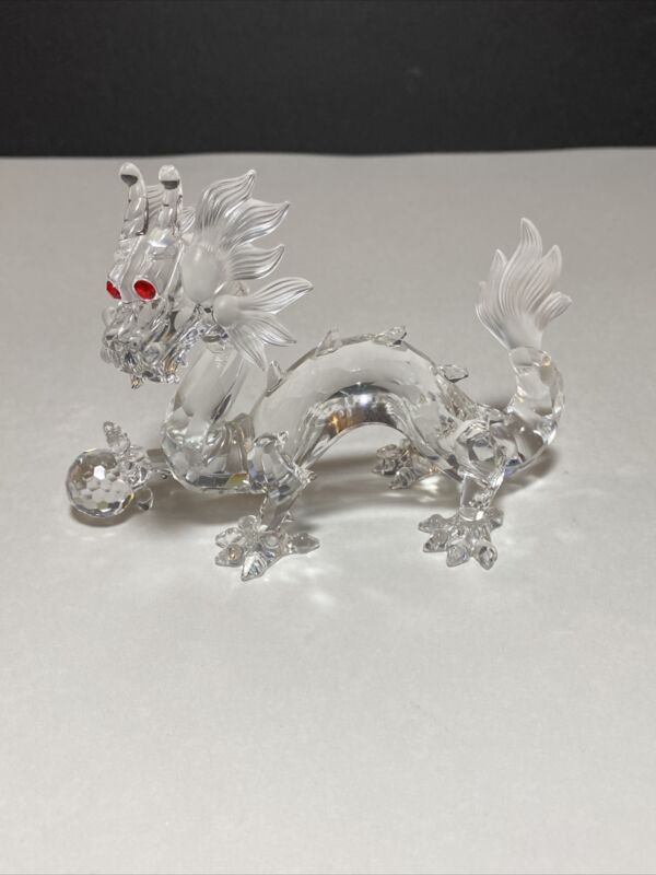 """Swarovski crystal figurines - Dragon """"Fabulous Creatures"""" 1997 Limited As Is"""