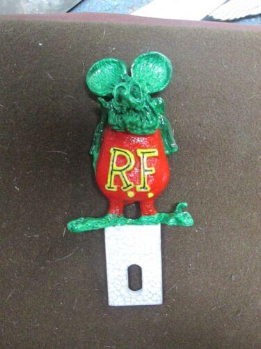vintage rat fink ed roth hand painted ratrod license plate topper