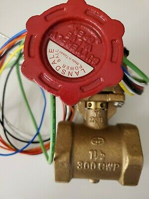 Zurn Fire Powerball Butterfly Valve 112-f49br. 1-12 With Supervisory Switch.