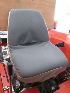 Kubota Tractor One Piece DURAFIT Seat Cover - Twill with Insulated Backing