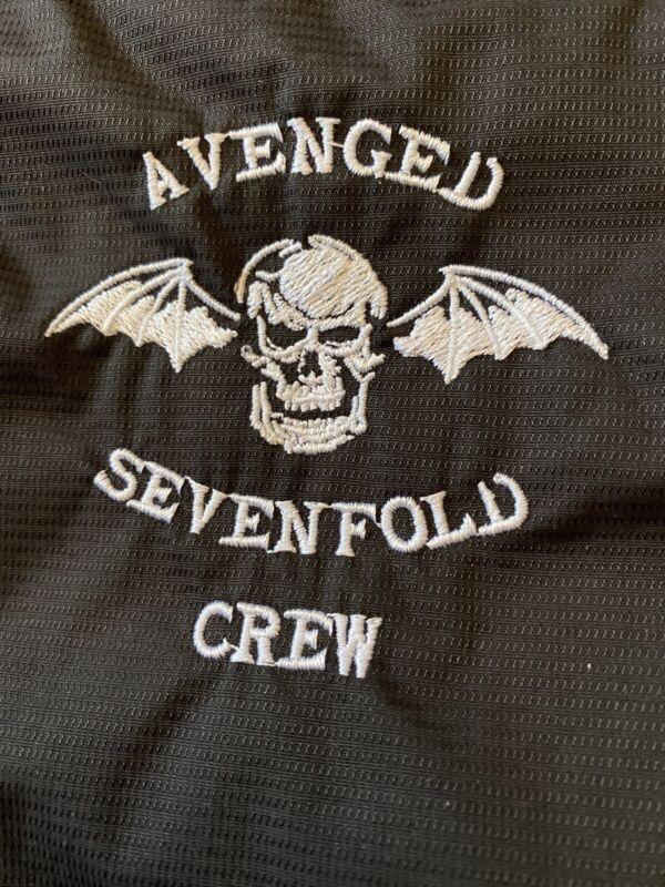 AVENGED SEVENFOLD TOUR CREW STAFF JACKET RARE 💀💀🤘🔥