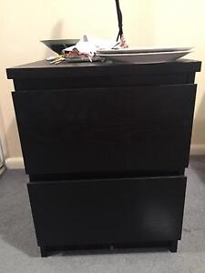 Set of 2 black bedside tables McMahons Point North Sydney Area Preview