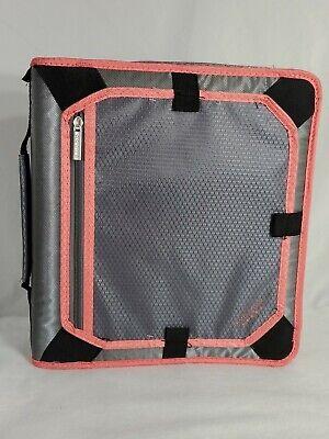 Five Star Mead Zipper 3 Ring Binder Filing Section Multipocket Pink Black Ce
