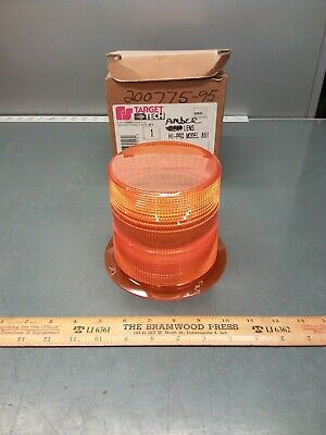 Nos Federal Signal Target Tech 200775-95 Amber Strobe Lens For 851 Series