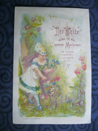 Victorian Trade Card Frank E. King West Lebanon NH White Sewing Machines 61