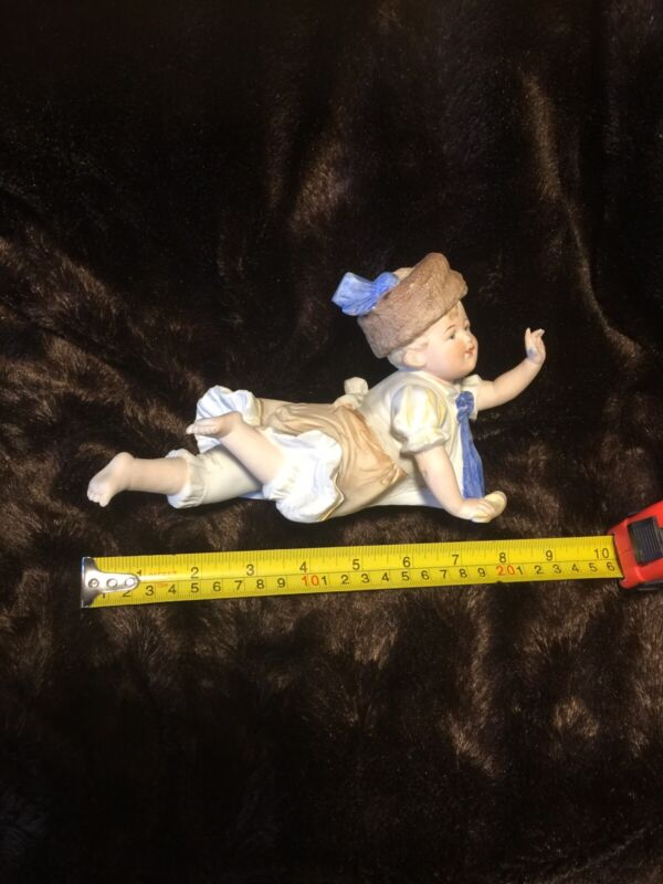 "Rare Piano Baby German Boy Porcelain Bisque Large 9""  Porzellanfabrik Ex. Sale!!"