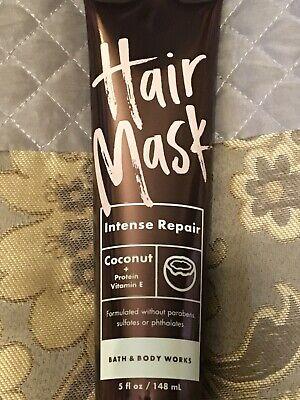 ONE Bath & and Body Works Hair Mask Intense Repair Coconut Vitamin E. 5 oz. NEW! Intensive Hair Repair