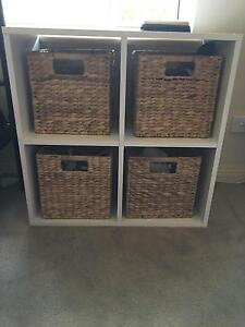 Cube shelving/bedside table and cube boxes $15 Angle Park Port Adelaide Area Preview