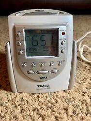 Timex Clock Radio MP3 Line In Nature Sounds Alarm T158W