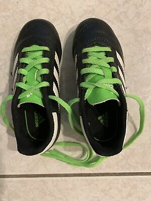 soccer shoes cleats, size 9, Adidas, Green And Black, Lightly Used