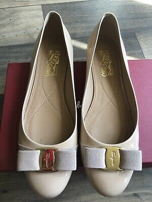 NWB Salvatore Ferragamo Varina Patent Leather Ballet Flat Size 9 Shoes