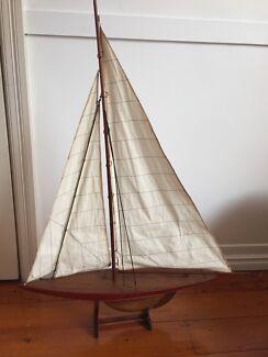 Replica traditional sailboat