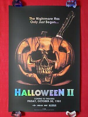 HALLOWEEN II 2 BNG ORIGINAL MOVIE POSTER ADVANCE ART PRINT FOIL VERSION NT MONDO - Halloween Ii Poster