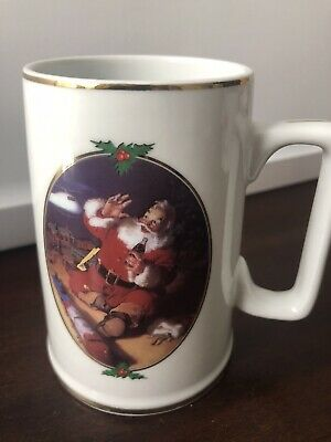 Vintage 1996 Coca-Cola Santa Season's Greetings Coffee Cup Collector Edition Mug