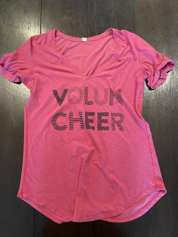 Lululemon **Seawheeze Edition** LOVE TEE T-Shirt VOLUNCHEER Dark Pink sz 8