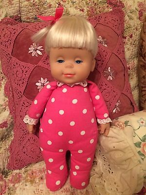 Mattel TALKING DROWSY DOLL Classic Collection 6 PHRASES Pink Polka-Dot Body
