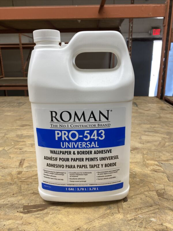 Roman PRO-543 Universal Wallpaper & Border Adhesive 1 Gal