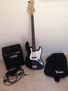 Fender Squier Affinity Jazz Bass guitar & amp North Beach Stirling Area Preview