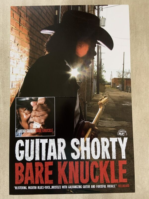 """Guitar Shorty """"Bare Knuckle"""" Promo Poster"""