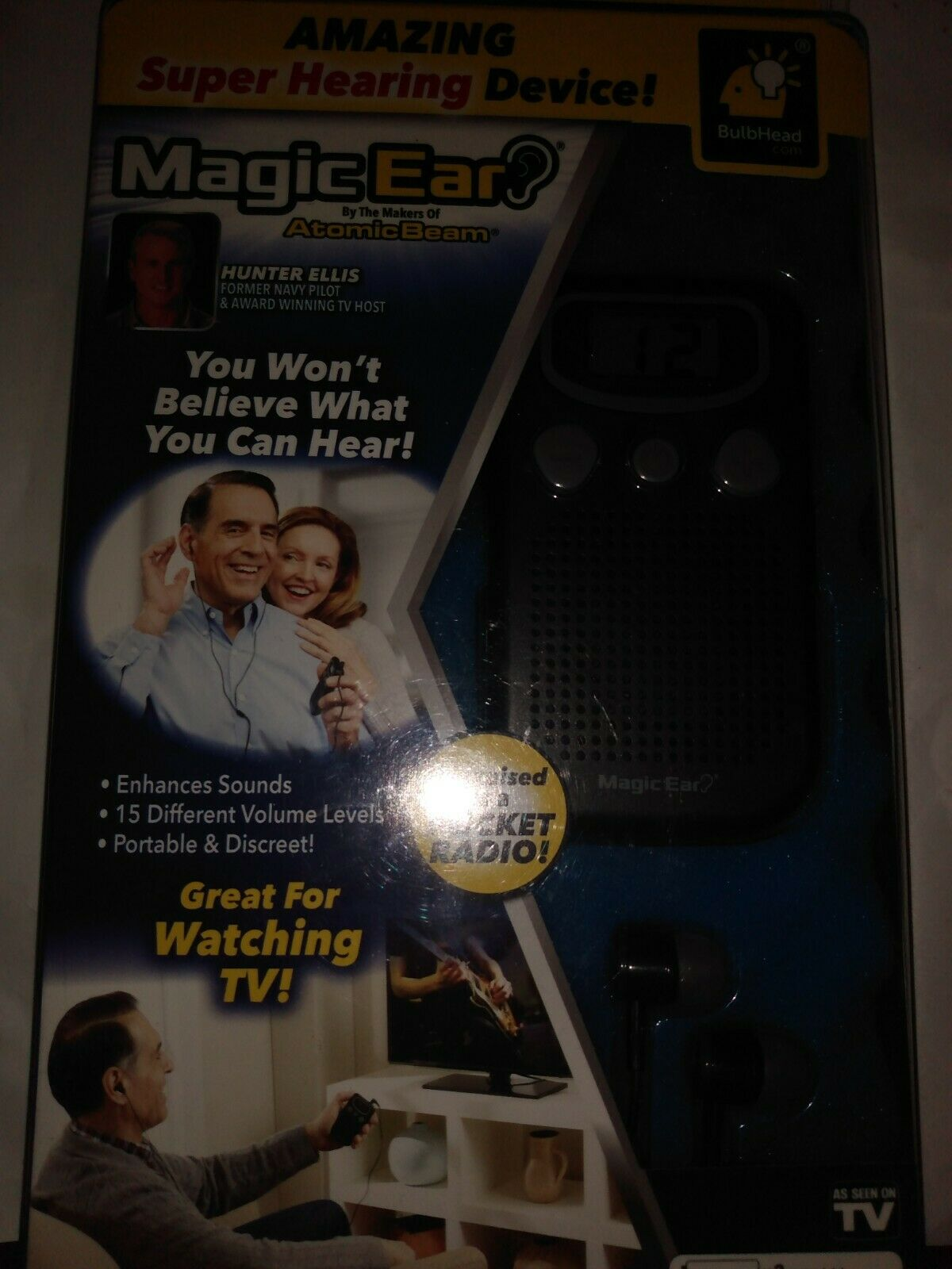 Official As Seen On TV Atomic Beam Magic Ear Personal Sound