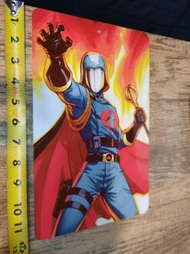 GI Joe Cobra Commander Artwork 8x12 Metal Wall Sign
