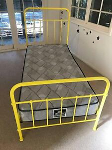 Kids metal bed with Mattress North Ryde Ryde Area Preview