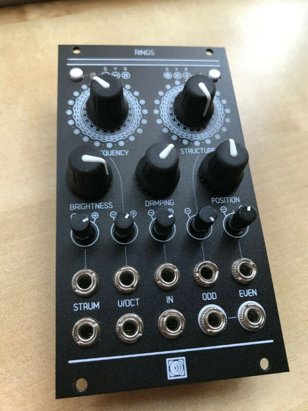 Mutable Instruments Rings clone Eurorack module, anodised black Antumbra panel