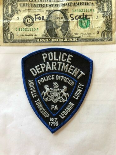 Annville Township Pennsylvania Police Patch un-sewn in mint shape