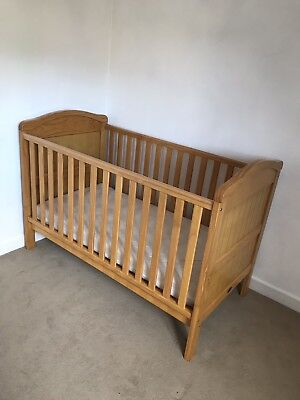 with bite marks. Baby Weaver Country Cot Bed Used - VGC structurally Pine