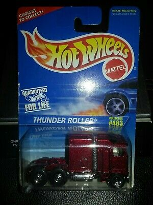 1996 hot wheels thunder roller #483 SHELF WEAR ON CARD & DINGS