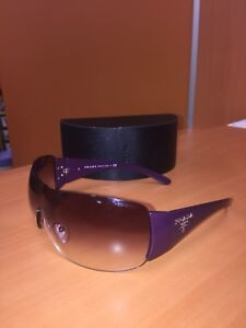 Authentic Pravda SPR 22M 7ZX-4V1 120 2N Purple Sunglasses Italy