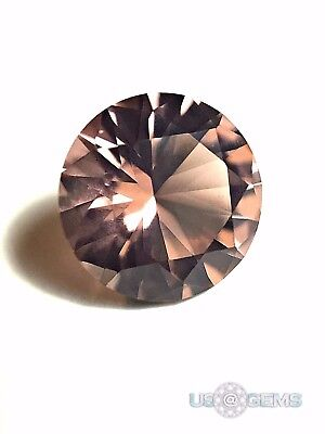 Morganite Peach light #180 Round 8 mm. 1,7 ct. SIAMITE Created Gemstone. US@GEMS