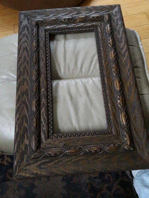 Awesome ornate wooden old vintage Picture Frame