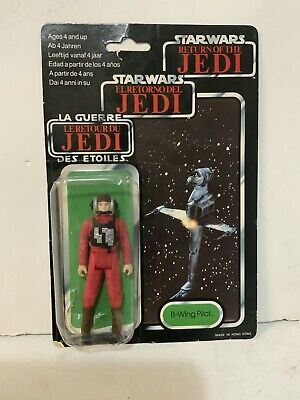 Vintage Star Wars Original ROTJ Tri-Logo B-Wing Pilot Figure 70 Back