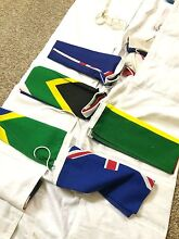 Lot of 19 International courtesy flags and carrier Red Hill Brisbane North West Preview