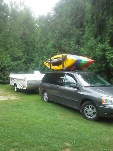4 kayaks,paddles and skirts