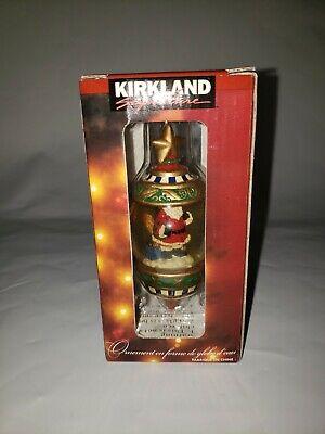 2New Kirkland Signature Series Masterpiece Santa Claus Ornament Glass Snow Globe
