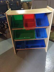 Small child kid organizer bins